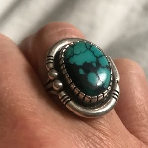 Jewelry - Sterling silver Bell Trade Turquoise Ring size 6.5